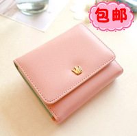 Short design wallet female 2013 women's wallet color block small wallet card holder
