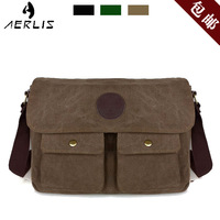 Canvas shoulder bag messenger bag casual male preppy style bag sports bag