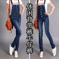 2013 summer women's bib pants jumpsuit overalls trousers jeans