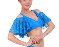 sexy Tribal belly dance costume lace Bra Choli Top butterfly short sleeves Bolero  ty002