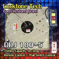 Chandelier Hoist Remote-controlled Lighting Lifter Light Lift DDJ100-5 (100kg Capability 5m drop 110--240V)
