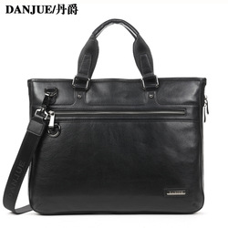 2013 New Fashtion HighQuality&100% Real Leather laptop bag briefcase handbag genuine leather bag man belt bag(China (Mainland))