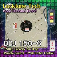 Crystal Chandelier Lift Lighting Hoist Remote-controlled Lighting Lifter Light Lift DDJ150-6 (150kg Capability 6m drop 110-240V)