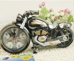 Free Shipping Motorcycle alarm clock cool model clock creative home gifts fashion and creative 6pcs/lot sp370(China (Mainland))