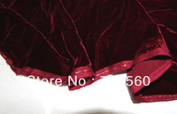 free shipping pure silk velvet fabric 190gsm solid color for dress cheongsam 100% silk bottom and viscose velvet dark red