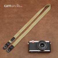Suspenders cam-in 100% cotton camera suspenders shoulder strap round hole olive cam8028