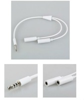 3.5mm 1 Male To 2 Dual Female earphone Y Splitter Cable