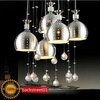 New Modern 5 Wineglass Crystal Pendant Lamp Pendant Lights Lighting Fast shipping