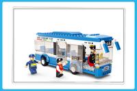M38-B0330 BUS sluban Building Block Set 3D Construction Brick Toys Educational Block toy for Children