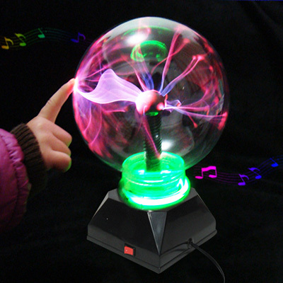 Birthday gift magic moneyball plasma ball crystal ball induction ball magic ball light band music(China (Mainland))