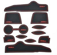 2007-2012 Toyota Corolla High quality Silica gel Gate slot pad,Teacup pad,Non-slip pad(11 pcs)