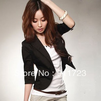 Wholesale Free Shipping 2013 Spring New Arrival Womens Fashion OL Blazers/Korean Style Short Jacket For Women/Ladies Small Suit