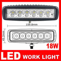 1pcs/lot Free Shipping 18w LED Work Light led driving light offroad Truck Mini Boat led bar led fog lamp12v spotlight