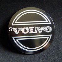 4PCS 55.5MM VOLVO Black Car Motor Auto Wheel Rims Center Emblem Sticker Badges