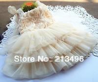 Girl summer new flower tutu dress, childrens party dress, 5pcs/lot
