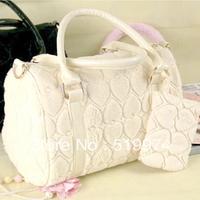 Cheap sale!2013 new handbag fur bag retro portable shoulder bag hair bulb package black bag white bag free shipping