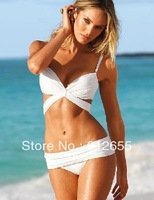 White Lady Women's Sexy Beach Bikini Dress Swimsuit Top&Bottom Size S/M/L Free Shipping