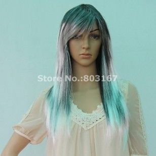 Beautiful Blonde Festival Dance Performance Model Long Straight Wigs Halloween Carnival Wigs Free Shipping(China (Mainland))