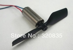 Free shipping 5x Tail Motor with tail rotor For V911 RC Mini Helicopter Spare Parts(China (Mainland))
