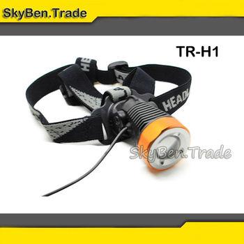 Zoomable Headlight Cree XM-L T6 LED Max 400 Lumens Power by 4*18650 Li-ion Battery 4800mAh Five-mode Powerfull Headlight