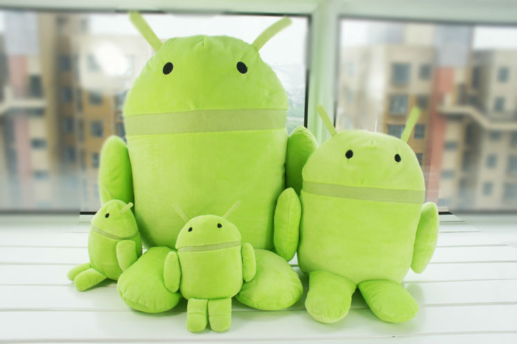 Free Shipping Android Robot Plush Toys Stuffed Dolls Cell Phone Accessories Wholesale(China (Mainland))