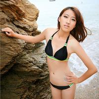 2013 swimwear female sexy classic bikini triangle small push up big hot spring swimsuit