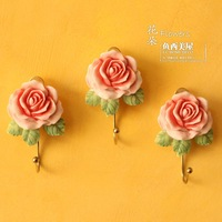 Fish smile princess rose three-dimensional relief of the decoration hook coat hooks