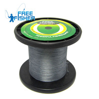 2014 New Arrival Rushed Braided Wire Double Taper Floating Line Dark Grey 1000 M Gray 4 Braided Sea Fishing Line Free Shipping