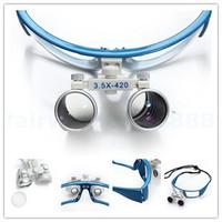 Brand New Fashion Dental Blue Dental Surgical Medical Binocular Loupes 3 5X 420