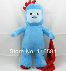 Y5 free shipping 45cm 18&#39;&#39; stuffed plush toy doll soft in the night garden cute blue iggle piggle 1pc(China (Mainland))
