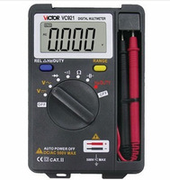 Free Shipping Portable digital VC921 Mini Pocket Digital Auto Range digital multimeter