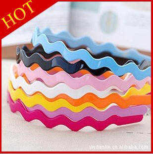 2013 New Arrival Free shipping 30pcs/lot Fashion Design mix colour Girls Plastic Hair band