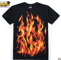 Free shipping.Prefect man T-shirts.human skeleton shirts.hip-hop.dance clothes.tees.tops,fire