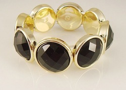 The star favorite Blackstone stretch bracelet Min order $10 Trend Jewelry TJB130316N(China (Mainland))