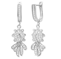 New arrival ! fashion jewelry 18k gold / platinum plated zircon goldfish earrings  GJW-323