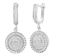 New arrival ! fashion jewelry 18k gold / platinum plated zircon rotundity earrings  GJW-327