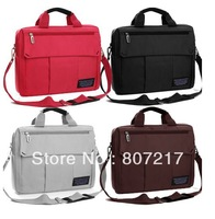 Brief casual  male women's portable laptop bag14 15 inch with black, pink, brown,red colors for choosing