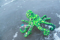Free Shipping New Arrival Simulation Green Leopard Octopus Plush Toy Cushion Pillow Children Gift Creative Birthday Gift