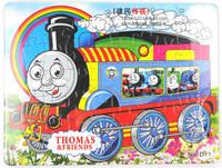 free shipping 10pcs/lot 128g thomas 40 flat paper puzzle child puzzle anime toys