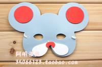 free shipping 10pcs/lot 10g child performance props child hair accessory child animal eva mask mouse mask