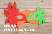 free shipping 10pcs/lot Infant 10g adult halloween eva mask performance props blindages red green mask