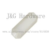 Hex nut / screw M3 x 6 PCB Hexagon Spacer Nylon off white Hex Standoff Pillar Female 1000 pieces