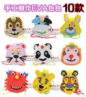free shipping 6pcs/lot Cartoon 50g satanisms bag eva nursery toys diy three-dimensional stickers sewing bag handmade