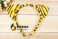 free shipping 6pcs/lot 17g halloween cartoon animal hair bands hair accessory headband - tiger ears headband