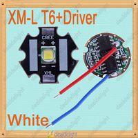 CREE Single-die XM-L T6 10W White LED Light Emitter Bulb 20mm PCB + DC3.7V Driver