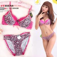 Underwear women's underwear set sexy leopard print women's bra set leopard print free shipping