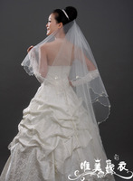 Free shipping Bridal veil long veil lengthen ultra bead bow veil ts1040