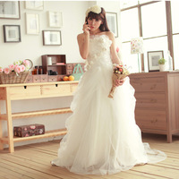 Fashion bride 2013verawang quality aesthetic involucres short trailing wedding dress
