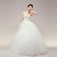 2013 wedding formal dress flower tube top bandage wedding qi bride white yarn