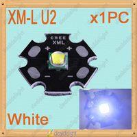 Cree XLamp XM-L XML U2 10W White Color LED Light Emitter Bulb mounted on 20mm Star PCB For Flashlight